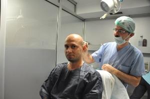 anesthésie greffe de cheveux